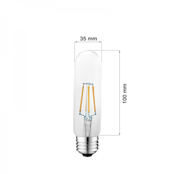 LED LAMP FILAMENT E27 4W T10-0