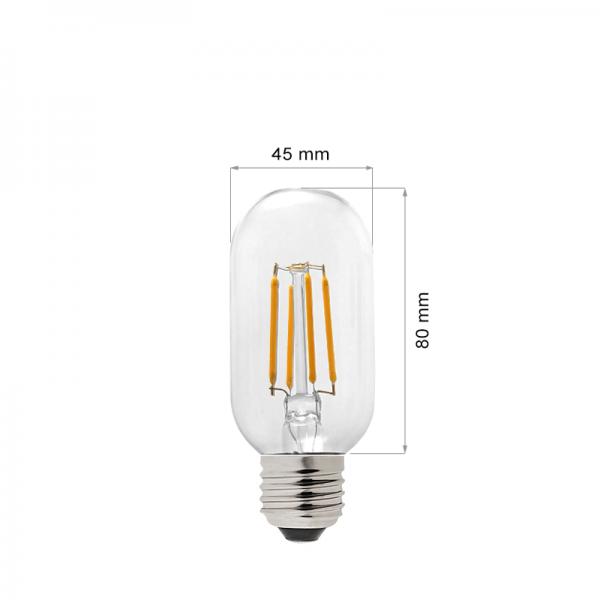 LED LAMP FILAMENT E27 4W T45-0