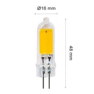 LED LAMP CAP G4 COB 2W Ceramics+PC 3000K-0