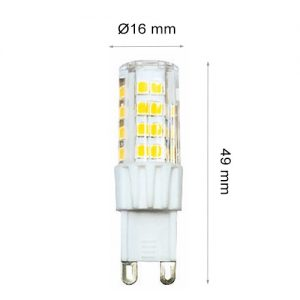 LED LAMP CAP G9 COB 6W Ceramics+PC 3000K-0