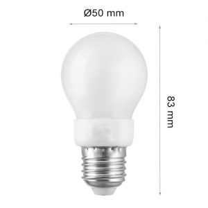 LED LAMP CAP Globe E27 3W 3000K-0