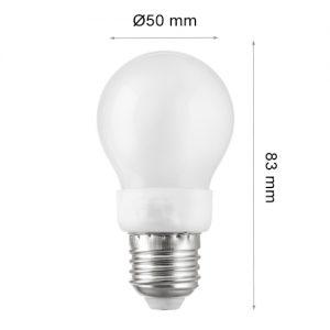 LED LAMP CAP Globe E27 3W 3000K-0