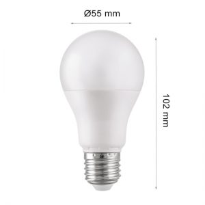 LED LAMP CAP GLOBE E27 5W 2700K-0