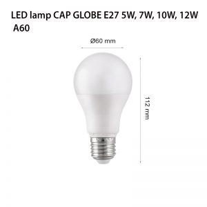 LED LAMP CAP GLOBE E27 5W 4000K-0