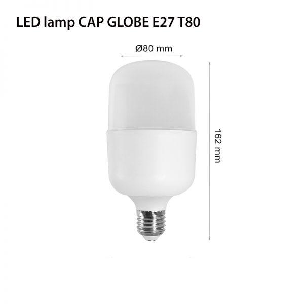 LED LAMP CAP T80 E27 20W 3000K-0