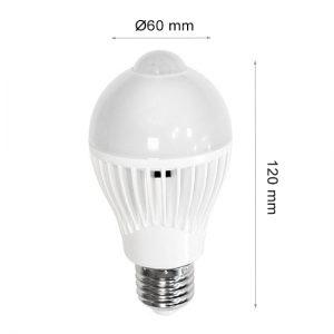 LED LAMP CAP SENSOR GLOBE E27 7W 6000K-0