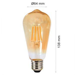 LED LAMP FILAMENT E27 4W ST64 SMOKE-0