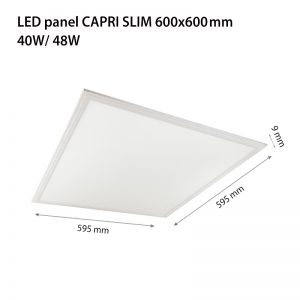 LED PANEL CAPRI SLIM DIMM 600X600X8 48W 3000K-0
