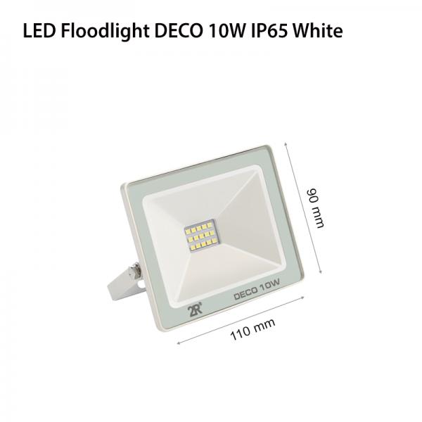 LED FLOODLIGHT DECO 10W IP65 WHITE-0