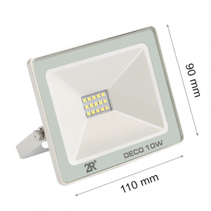 LED FLOODLIGHT DECO 10W IP65 WHITE-0