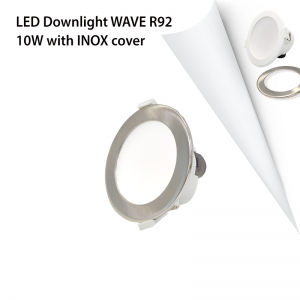 COVER INOX FOR LED DOWNLIGHT WAVE R92 10W-0