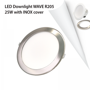 COVER INOX LED DOWNLIGHT WAVE R205 25W-0