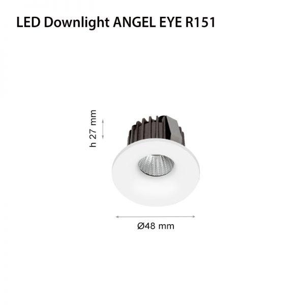 LED DOWNLIGHT ANGEL EYE R151 3W WHITE-0