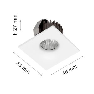 LED DOWNLIGHT ANGEL EYE S151 3W WHITE-0