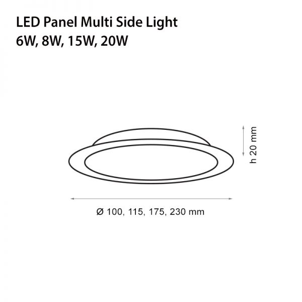 LED PANEL MULTI 8W-3379