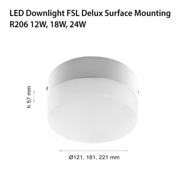 LED DOWNLIGHT FSL R206 12W ОМ-0