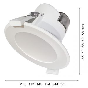 LED DOWNLIGHT WAVE R130 14W 3-WHITE-0