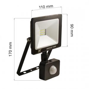 LED FLOODLIGHT SENSOR DECO 10W-0