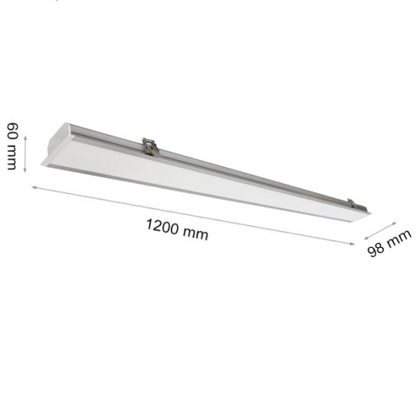 LED LINEAR LIGHT NAVI 6618 40W 1200mm 6000K-0