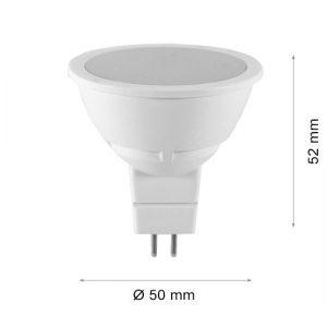 LED LAMP CAP MR16 6W FL Frost 3000K-0