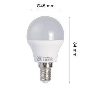 LED LAMP CAP GLOBE E14 3W 2700K-0