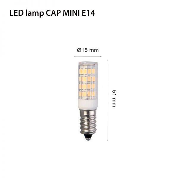 LED LAMP CAP MINI E14 6W-0