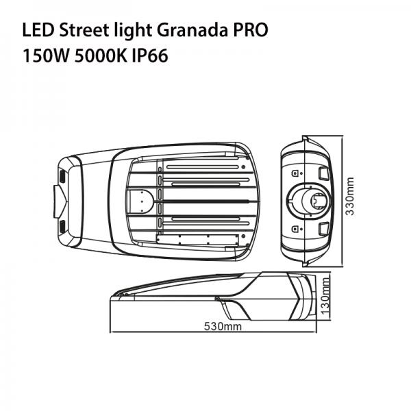 LED SOLAR STREET LIGHT GRANADA PRO 20W-5542