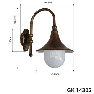 WALL LATERN BELL OLD GOLD-0