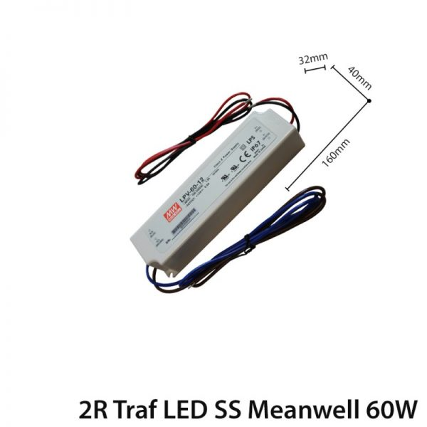 LED TRANSFORMER 60W DC 12V IP65 MEANWELL-0