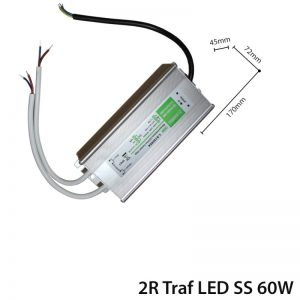 LED TRANSFORMER 60W DC 12V IP65-0
