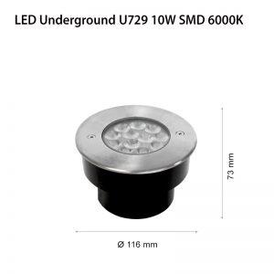 LED CARO U729 10W SMD IP67-0
