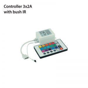 CONTROLLER 3x2A WITH BUSH IR-0