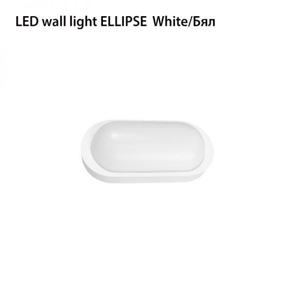 LED WALL LIGHT ELLIPSE 10W WHITE-0