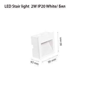 LED STAIR LIGHT 2W IP20 WHITE-0