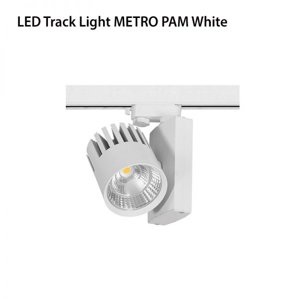 LED TRACK LIGHT METRO PAM 30W 4 WIRE WHITE-0