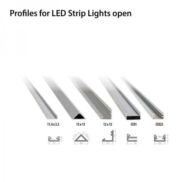 Aluminium profile 11.4*3.5-0