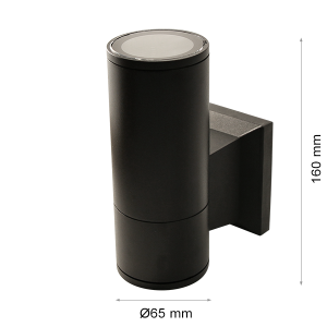 Wall light RINO 104 Ø65 Single BLACK GU10-0