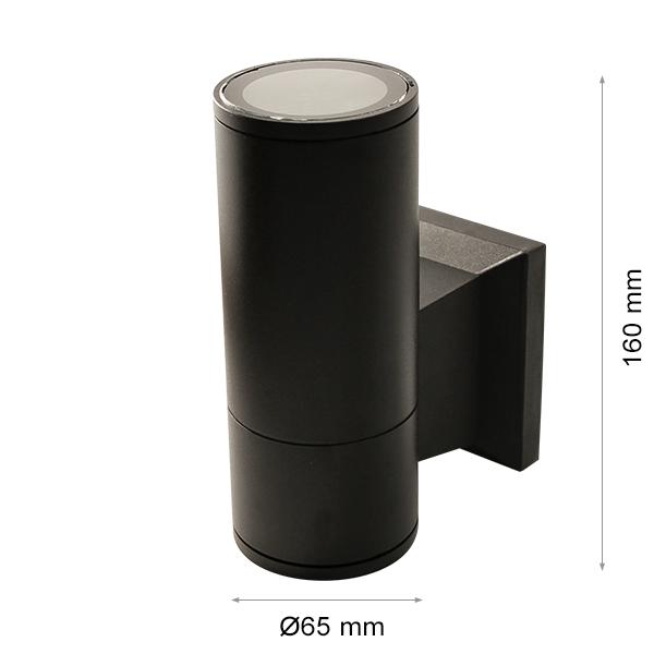 Wall light RINO 104 Ø65 Single BLACK GU10-0