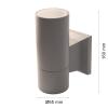 Wall light RINO 104 Ø65 Single Grey GU10-0
