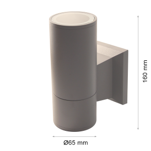 Wall light RINO 104 Ø65 Single Grey GU10-0