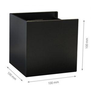 LED Wall light SIERRA 003 6W 4000K IP44 Black-0