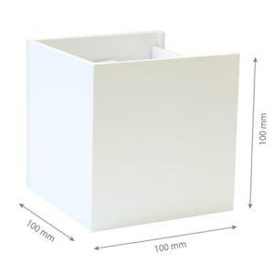 LED Wall light SIERRA 003 6W 4000K IP44 White-0
