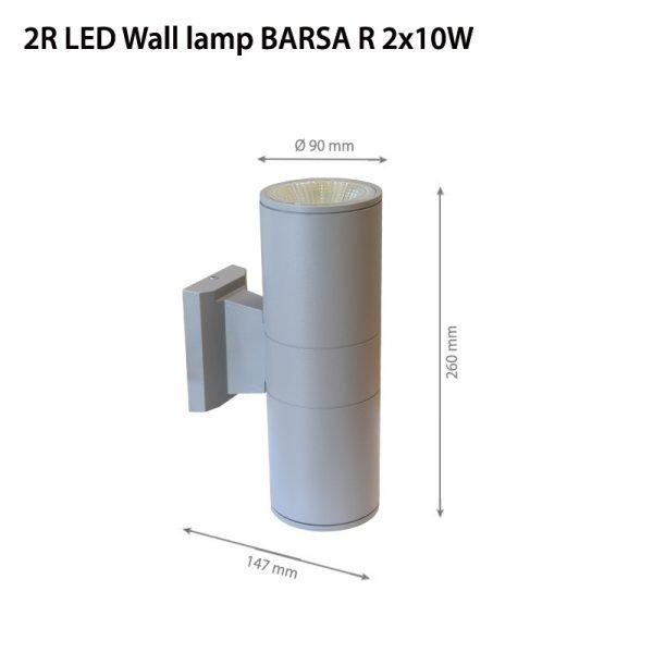 LED Wall lamp BARSA R 2x10W-0