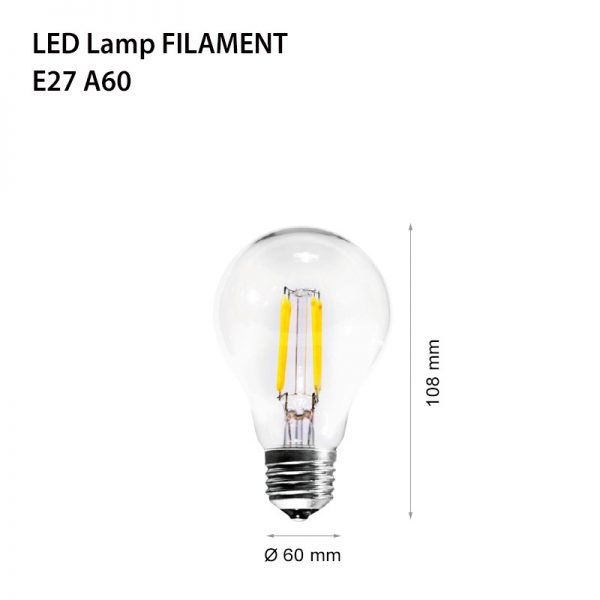 LED LAMP FILAMENT E27 7W 2700K A60 DIMMABLE-0